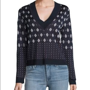 Rag & Bone Fair Isle V Neck Sweater Viscose